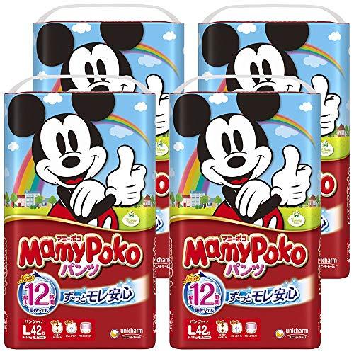 【Amazon.co.jp限定】マミーポコ パンツ L (9~14kg) 168枚(42枚×4)【ケース販売】