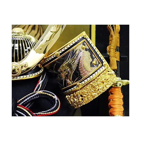 五月人形 兜ケース飾り ゴールドハヤブサ兜 間...の紹介画像6
