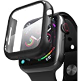 pzoz Compatible Apple Watch Series 4 Case with Screen Protector 44mm Accessories Slim Guard Thin Bumper Full Coverage Matte H