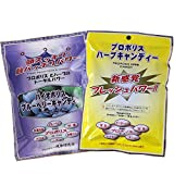 高濃度 プロポリス のど飴 ブラジル産 プロポリスハーブ バイオポリスキャンディー 2袋 (ハーブ&ブルーベリー)