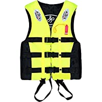 [inotenka] ライフジャケット フローティングベスト 救命胴衣 呼び子付け 子供用 大人用 男女兼用 反射帯付き…
