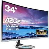 ASUS ディスプレイ 湾曲ウルトラワイド34型モニター(フリッカーフリー / 3440x1440 / Qi対応 / ブルーライト軽減 / DisplayPort, HDMI)MX34VQ