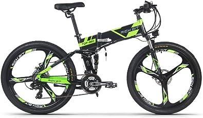 RICH BIT 860 電動アシスト自転車 26インチ 250W*12.8AH 折りたたみアルミフレーム マウンテンバイク 公道乗れと防犯登録可能