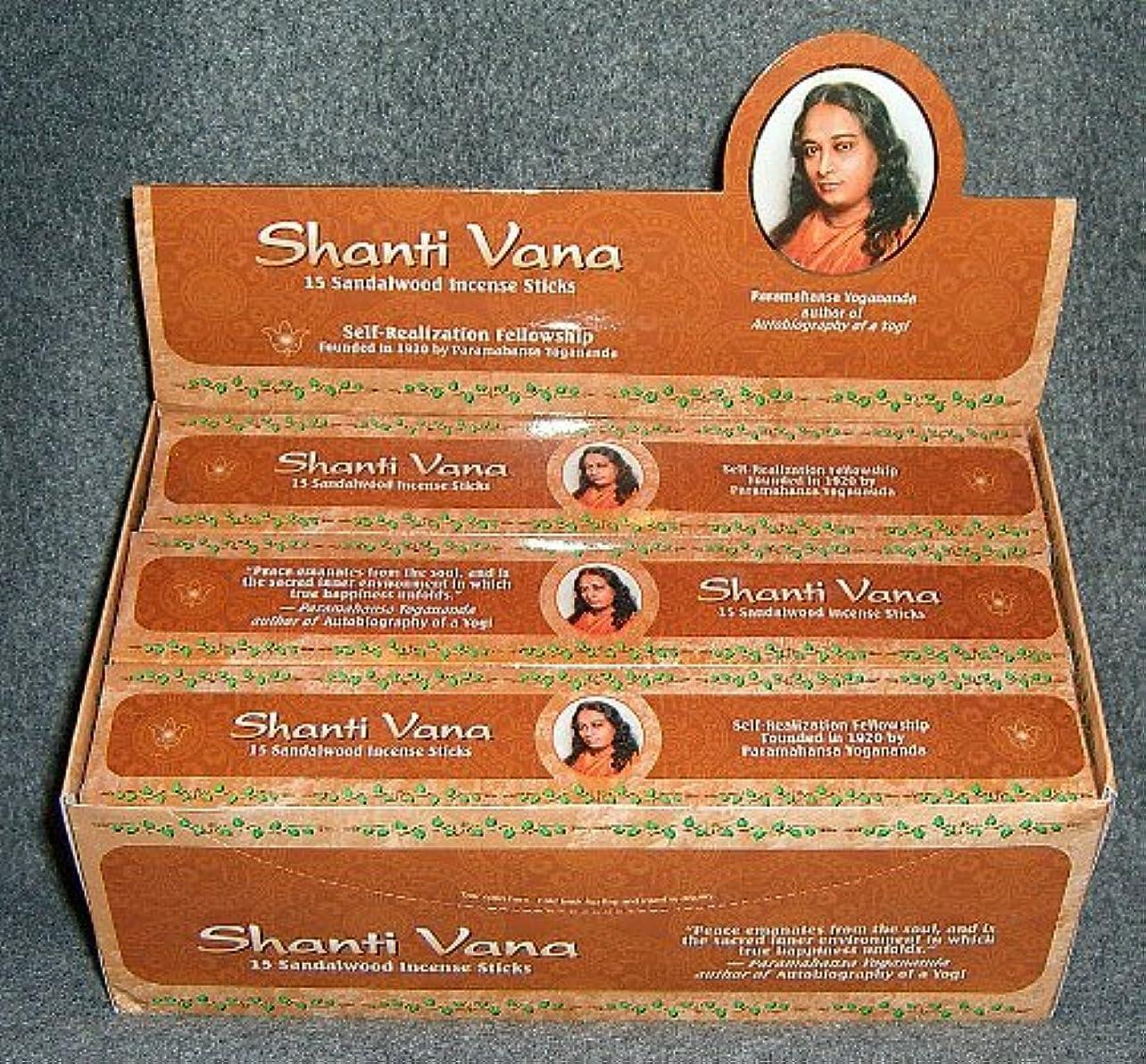 ダイアクリティカル金額結論Shanti Vana Sandalwood Incense Sticks 15 sticksのボックス – 12の各