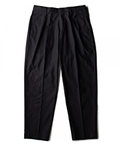 Washed Cotton Pleated Pant 1114-177-5635: Navy