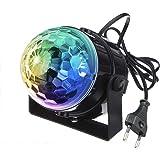 ステージライト ミラーボール マジックボール 舞台照明 レーザー 照明 led バーライト クラブ ライト 音声起動 音楽に合わせ機能 自走機能付け KINGSO disco light 水晶魔球 LED 5W RGB 100-240V カラフル ス