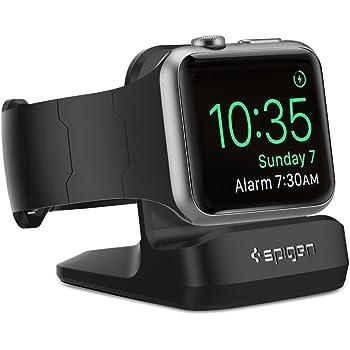【Spigen】 Apple Watch スタンド, Apple Watch Series 4 / Apple Watch Series 3 / Apple Watch Series 2 / Apple Watch Series 1 [ 充電 クレードル ドック ] アップルウォッチ シリーズ 4 44mm/40mm / シリーズ 3 / シリーズ 2 / シリーズ 1 38mm/42mm 対応 (ブラック)