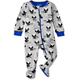 The Children's Place Baby and Toddler Boys Skunk Snug Fit Cotton One Piece Pajamas
