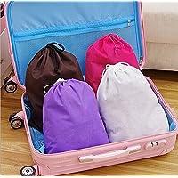 10個の不織布白い靴の起動防塵オーガナイザードローストリングの持ち運び用収納袋 (白)