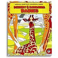 Animal Habitats Desert & Savanna Babies Colouring Book by MindWare [並行輸入品]
