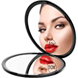 Gospire Pocket Makeup Mirror for Travel, 1X/10X Double Sided Magnifying Compact Handbag Cosmetic Mirror, 4 Inch Ultra-thin Ha