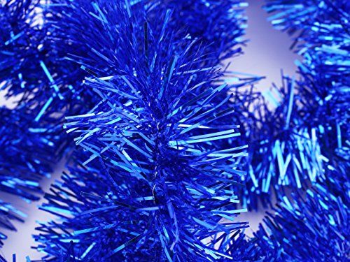 【クリスマスモール 400cm(2m×2本セット/青)】クリスマス/xmas/モール/パーティー/装飾/アレンジ/デコレーション/用品/天井飾り/ブルー