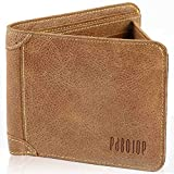 [パボジョエ]Pabojoe 財布 メンズ 二つ折り レザ 薄 wallet 男性用 ブランド二つ折れ 一流の革職人が作る(カーキ)