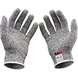 防刃手袋、軍手、作業用手袋、Vilcome耐切創手袋作業グローブ 耐切創レベル5耐摩耗性 耐摩耗レベル4~6 2双組