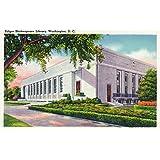 ワシントンDC–の外部のビューFolger Shakespeareライブラリ 36 x 54 Giclee Print LANT-25433-36x54