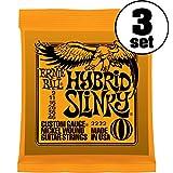 【正規品】 ERNIE BALL ギター弦 ハイブリッド (09-46) 3セット 2222 HYBRID SLINKY 3SET
