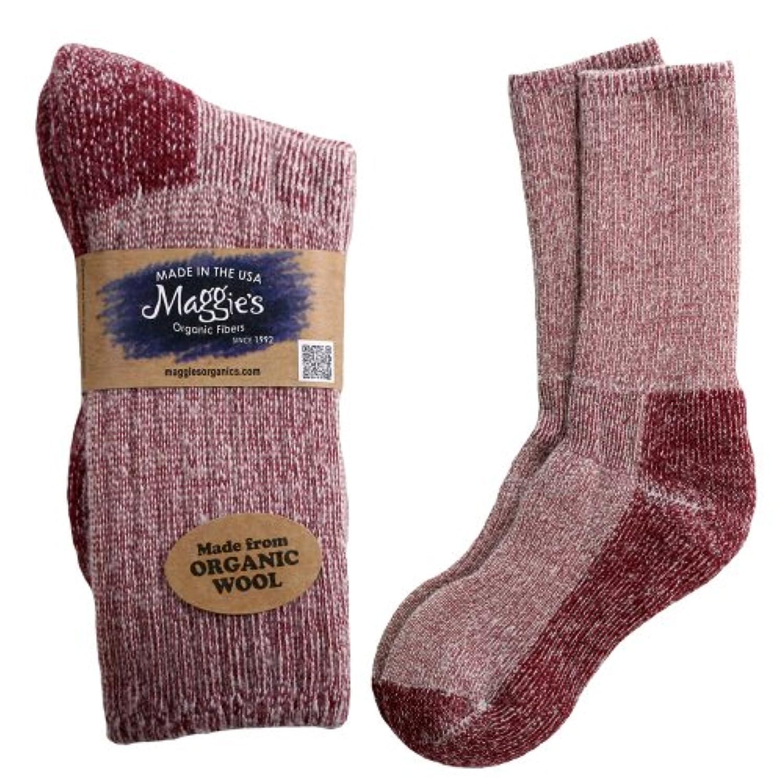 藤色聡明ドメインマギーの有機ウールKillington MT。Hiker Socks