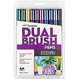 Tombow Dual Brush Pen Bohemian Marker, 10 Piece