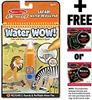 "Safari: ""ON the GO"" Water-Reveal Activity Pad + 1 Melissa & Doug Scratch Art Mini-Pad Bundle ( 09441)"