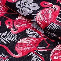 (ライチ) Lychee 生地 レザー 手芸用 フラミンゴ 服装素材 縫製 PVC 防水 光沢感 おしゃれ バッグ DIY A4サイズ
