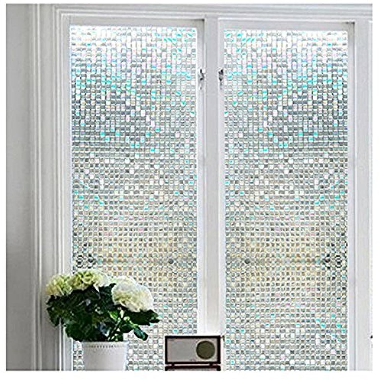 [ブロス]Bloss Privacy Stained Glass Window Film Home/Bedroom/Bathroom/Office Glass Window Cling Mini Mosaic Design 17.7 [並行輸入品]