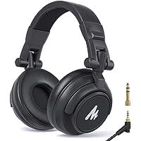 MAONO 密閉型モニターヘッドホン ヘッドフォン 有線 オーバーイヤーヘッドフォン 遮音 折り畳み可能 3.5mm/6…