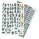 1/350 スタートレック 宇宙大作戦 U.S.S.エンタープライズ NCC-1701用 登録番号デカール
