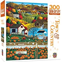MasterPieces Town & Country Autumn Morning - Pumpkin Patches Large 300 Piece EZ Grip Jigsaw Puzzle by Art Poulin [並行輸入品]