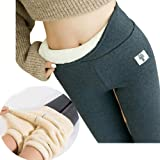 Super Thick Cashmere Wool Leggings Women - Winter Soft Fleece Lined Leggings, Women High Waist Tummy Control Velvet Stretchy