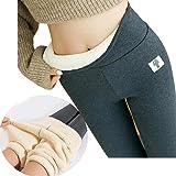 Super Thick Cashmere Wool Leggings Women - Winter Soft Fleece Lined Leggings, Women High Waist Tummy Control Velvet Stretchy