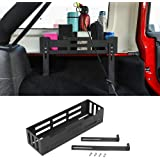 RT-TCZ for Jeep JK JL Interior Accessories Rear Cargo Side Basket Rack Solid Metal Luggage Storage Carrier for 2011-2018 Jeep