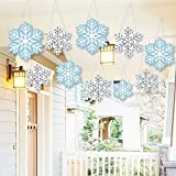 Hanging Winter Wonderland - Outdoor Snowflake Holiday Party & Winter Wedding Hanging Porch & Tree Yard Decorations - 10 Pieces [並行輸入品]