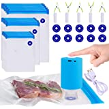 Sous Vide Bags, 42 PCS Electric Vacuum Sealer & Reusable Vacuum Food Storage Bags for Anova, Joule Cookers -30 PCS Reusable V