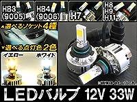 AP LEDバルブ ヘッドランプ/フォグランプ用 12V 33W ホワイト H7 AP-LB022-WH-H7 入数:1セット(左右)