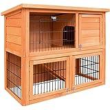 Chicken Coop Rabbit Hutch Guinea Pig Ferret Cage Hen House 2 Storey Run Ladder