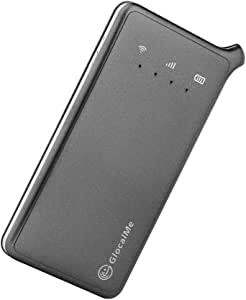 GlocalMe U2 モバイル Wi-Fi ルーター 1.1ギガ分のグローバルデータパック付け 高速4G LTE ポケットwifi simフリー 世界140国・地区以上対応 フリーローミング 国内・海外旅行最適 iPhone・Xperia・HTC・Galaxy・iPad全機種対応 超軽くて携帯便利 (グレー)