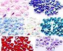 Lisa Space チェコ ガラスビーズ しずく型 詰め合わせ 28粒 通し穴つき ピアス イヤリング ブレスレット パーツ ハンドメイド 材料 素材 (6×9mm, ミックス28粒)