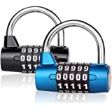Number Lock Combination Padlock Okelux Set Your Own 5 Digit for Gym School Toolbox Cabinet Drawer Office Luggage Fence (2-Pac