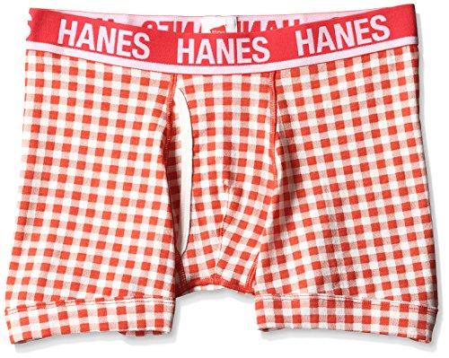 (ヘインズ)Hanes ギンガムチェックボクサーブリーフ HM6-H213 940 レッド LL