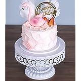 URANMOLE Antique Gold Metal Cake Stand, Round Cupcake Stands, Wedding Birthday Party Dessert Cupcake Pedestal/Display/Plate (
