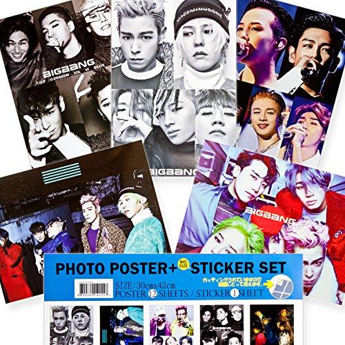 BIGBANG ビックバン 【 ポスター 12枚+ステッカー...