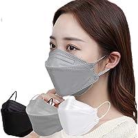 柳葉型 3段構造 ダイヤモンド形状 マスク 高性能 不織布マスク グレー ブラック ホワイト 3カラー不織布4層フィルタ…