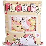 SHDZKJ Cute Bag of Cherry Unicorn Plush Toy Soft Throw Pillow Stuffed Animal Toys Creative Gifts Room Decor