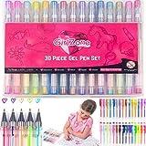 Gelペン用クリスマスプレゼントGirls : 30ピース、理想的なArts & Crafts Gift for Kids、クリエイティブカラーリングペンの子供、女の..