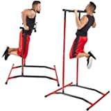 GoBeast Pull Up & Dip Station, Portable Steel Power Tower, Includes Carry Bag, Requires No Tools, Workout Inside or Out, Impr
