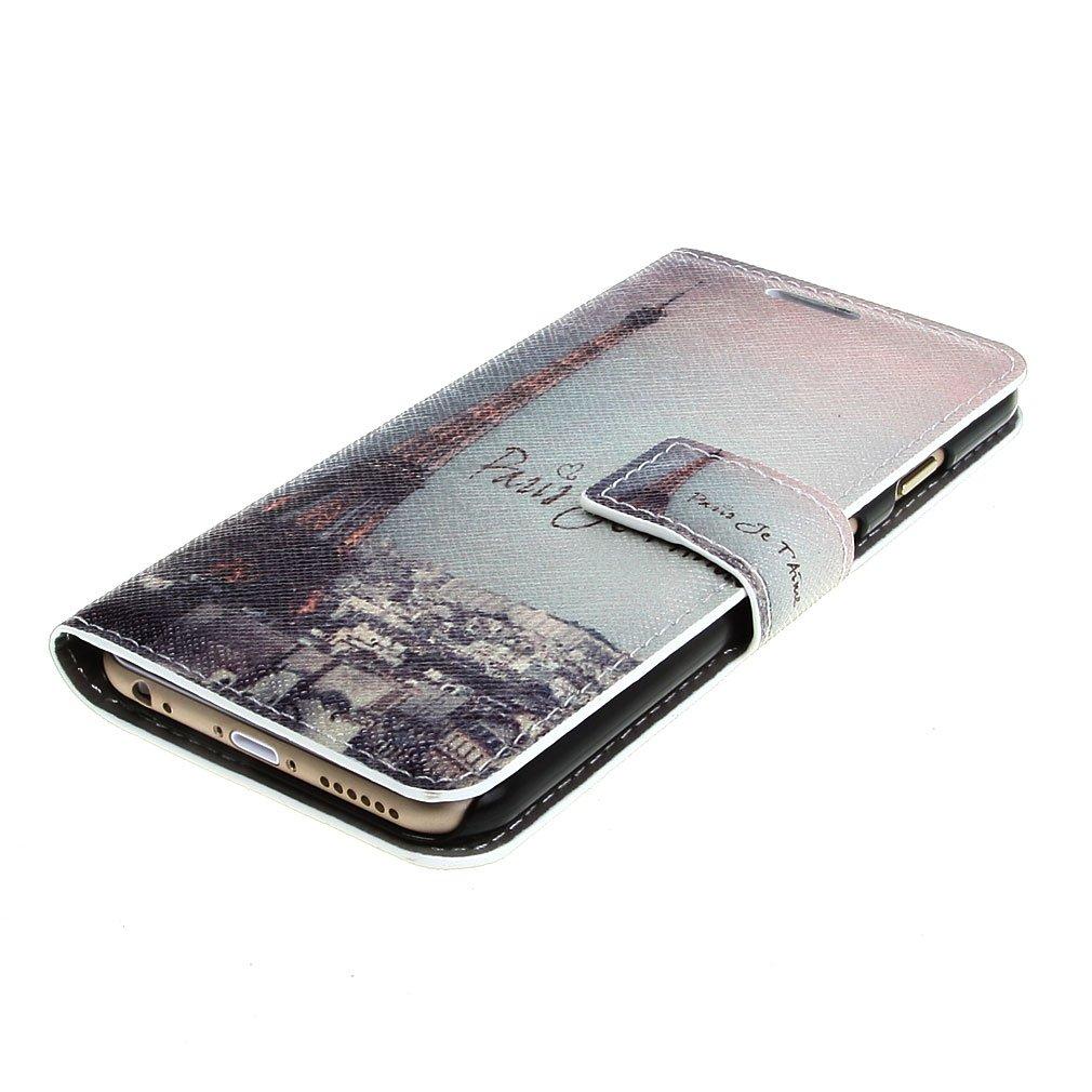 4a1241dce3 Amazon | Leathlux パリ エッフェル塔 スタイルデザインPUレザーフリップスキンケースカバーのための Apple iPhone 6  Plus (5.5 inches) | ケース・カバー 通販