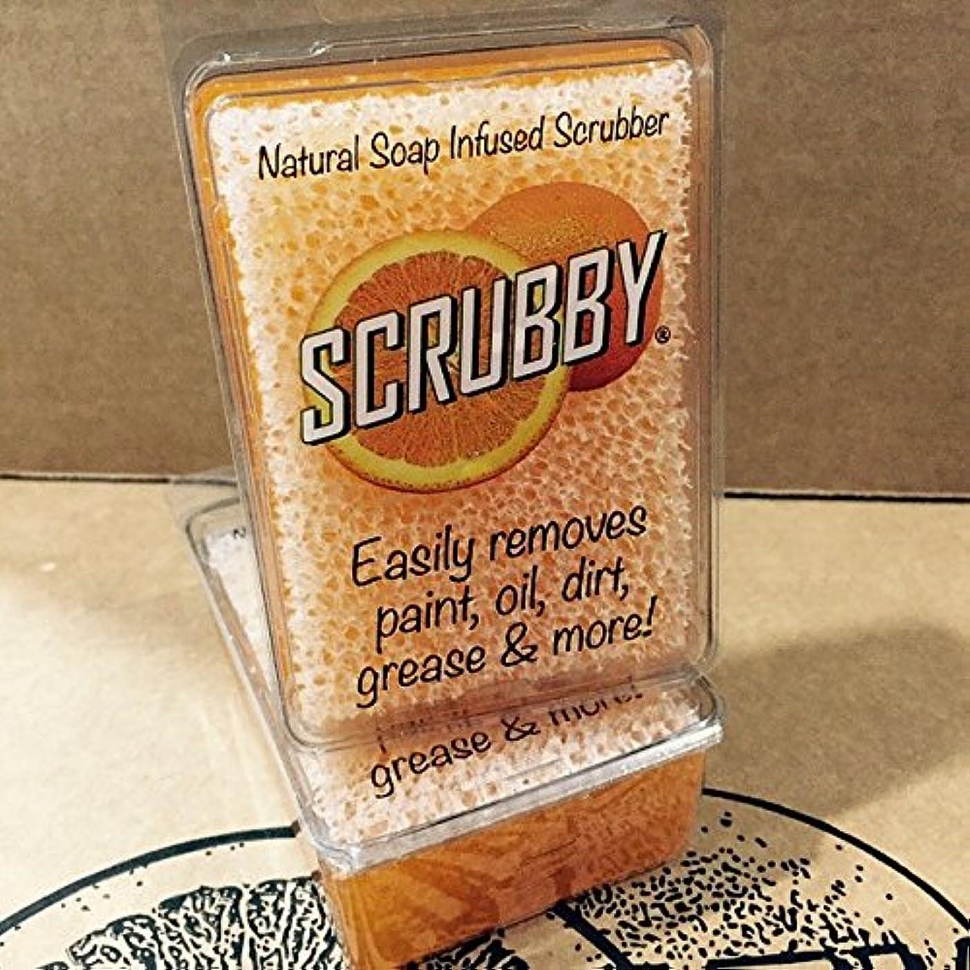 格納実質的ボランティアScrubby Soap OriginalオレンジCitrus Cleaner scrubbyorg1