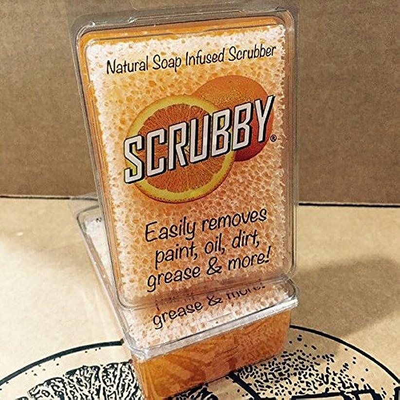アンティーク年金ハウジングScrubby Soap OriginalオレンジCitrus Cleaner scrubbyorg1