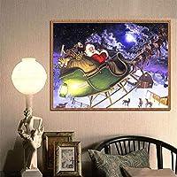 幸運な太陽 ダイヤモンド 絵画 クリスマス ダイヤモンドラインストーンペースト 刺繍 絵画 クロス ステッチ ホーム インテリア 壁 装飾 ギフト 室内 おしゃれ キット 40X30cm
