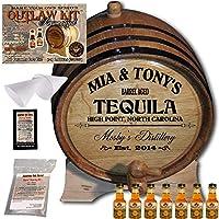 Personalized Outlawキット(テキーラ)からAmericanオークバレル–デザイン064: Barrel Agedテキーラ 5 Liter